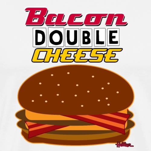 Bacon Double Cheese Combo - Men's Premium T-Shirt