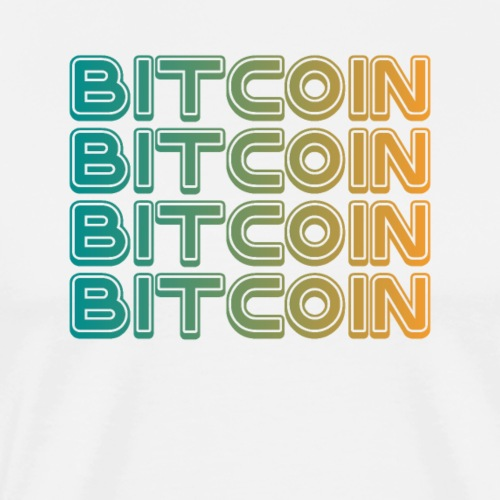 Bitcoin Art Deco Tshirt - Men's Premium T-Shirt