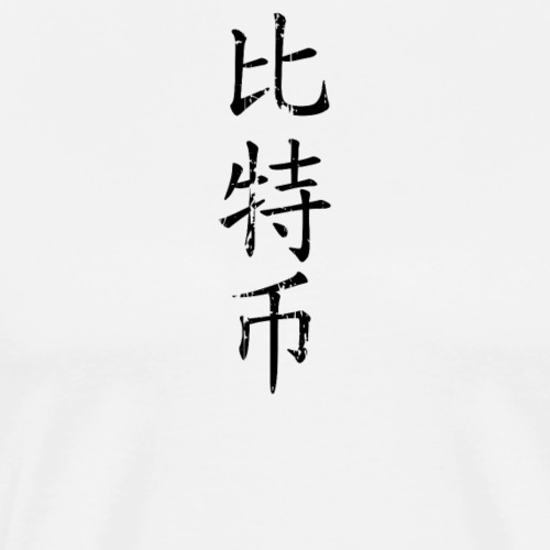 Bitcoin in Chinese Characters (Simplified) - Men's Premium T-Shirt