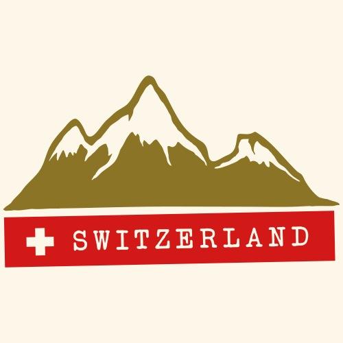 Switzerland, Mountains, Alps, Swiss, Nature, Snow - Men's Premium T-Shirt