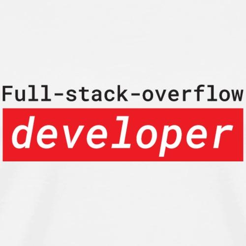 Full stack overflow developer   programmer jokes - Men's Premium T-Shirt