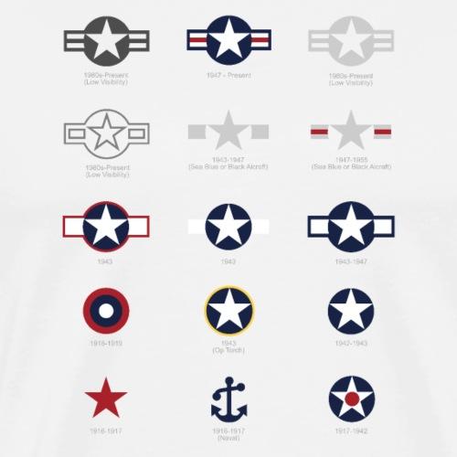 U.S. Military National Aircraft Roundels - Men's Premium T-Shirt