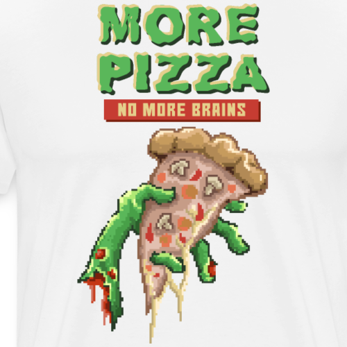 Eat Pizza Not Brains | Funny Zombie Pixelart