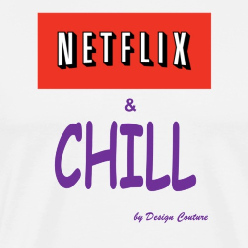 NETFLIX CHILL PURPLE - Men's Premium T-Shirt