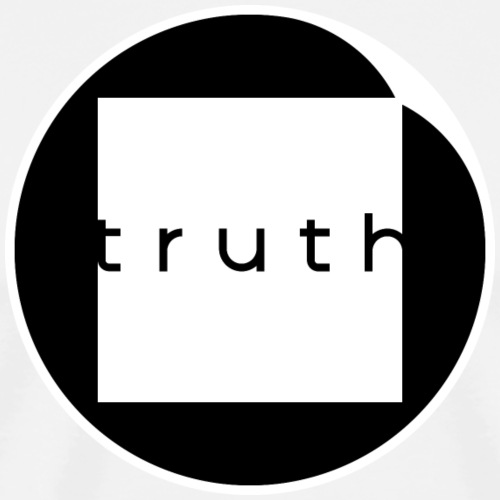 Truth in White and Black - Men's Premium T-Shirt