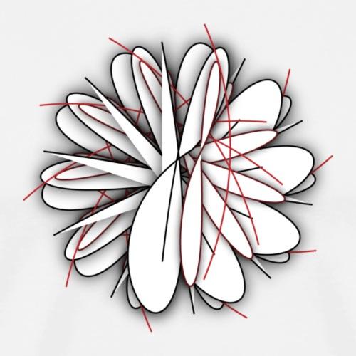 Funky White Chrysanthemum - Men's Premium T-Shirt