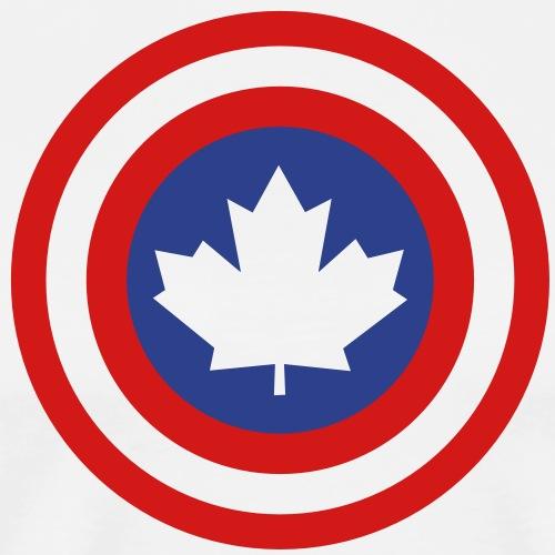 Captain Canada Shield 2 Colour - Men's Premium T-Shirt