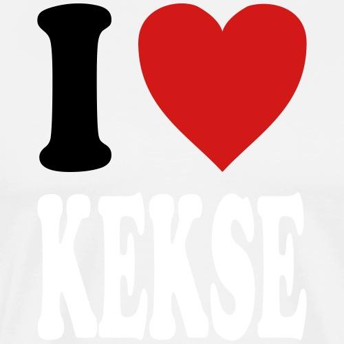 I love KEKSE (variable colors!) - Men's Premium T-Shirt
