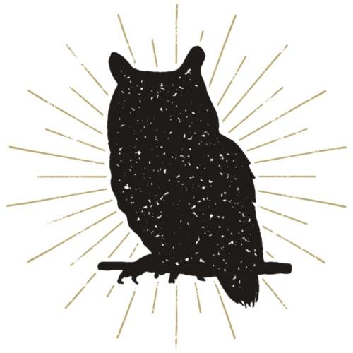 Cute Owl - Gold Accent - Men's Premium T-Shirt