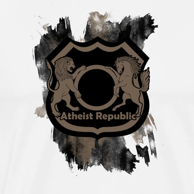 Atheist Republic Logo - Brown Badge