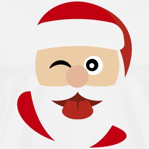 Santa Claus Tongue and Closed Eyes