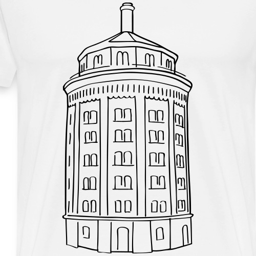 Water tower Berlin - Men's Premium T-Shirt
