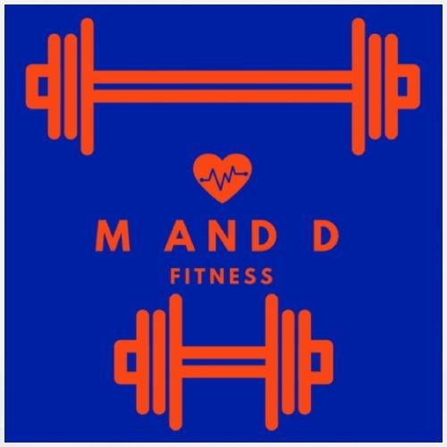 M and D Fitness Logo - Men's Premium T-Shirt