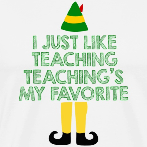 Teaching's My Favorite Christmas Teacher T-Shirt - Men's Premium T-Shirt