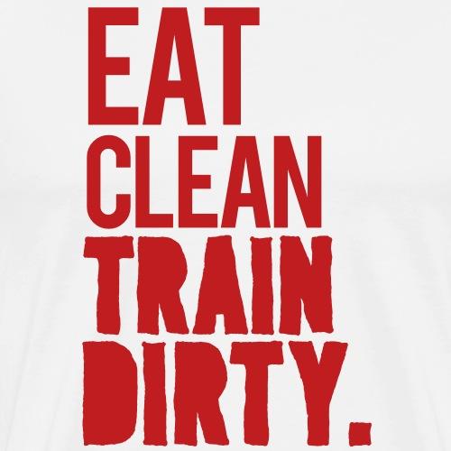 Eat Clean Gym Motivation - Men's Premium T-Shirt