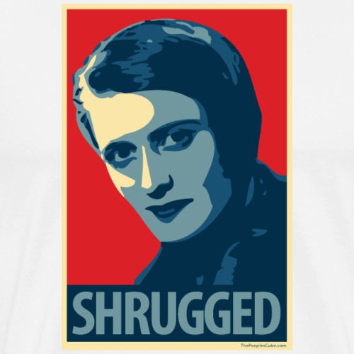 Ayn Rand - parody of Obama poster - Men's Premium T-Shirt
