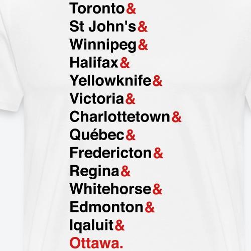 Canada's Capitals - Red & Black - Men's Premium T-Shirt