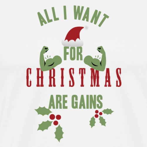 All i want for christmas - Men's Premium T-Shirt