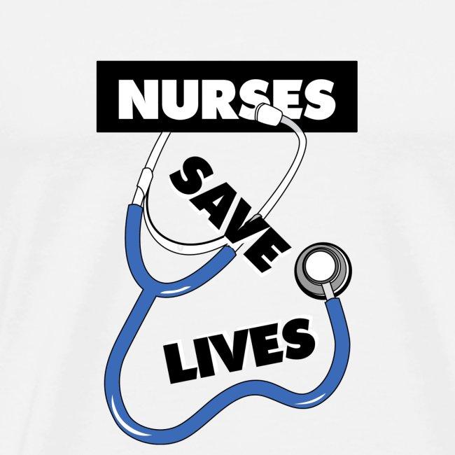Nurses save lives blue
