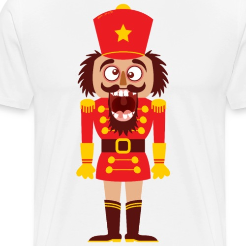 A Christmas nutcracker is a funny tooth cracker - Men's Premium T-Shirt