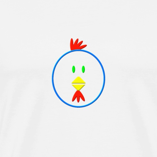 Coloured chicken - Men's Premium T-Shirt