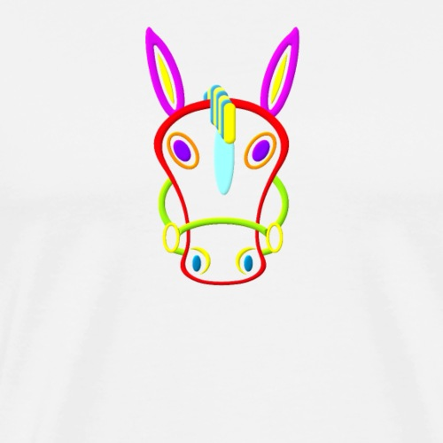 Coloured horse - Men's Premium T-Shirt