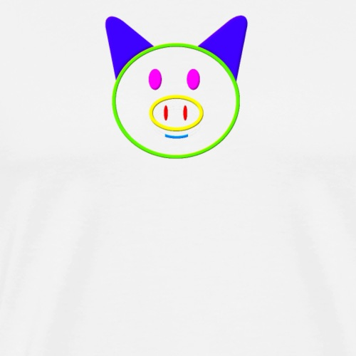 Coloured pig - Men's Premium T-Shirt