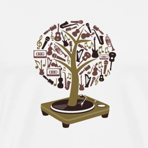 Turntable Tree of Music - Men's Premium T-Shirt