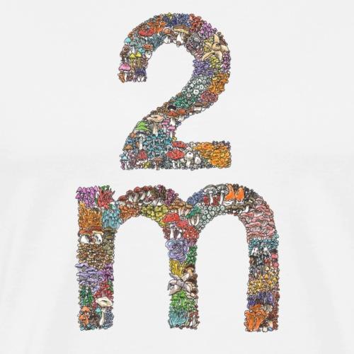 2 meters / Corona / social distancing / mushrooms - Men's Premium T-Shirt