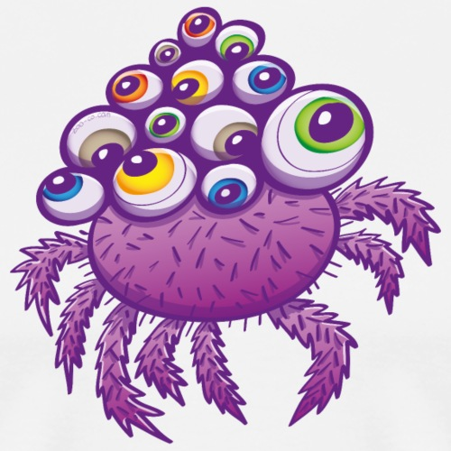 Monstrous multi-eyed purple spider - Men's Premium T-Shirt