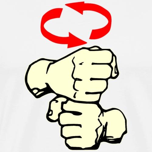 Coffee American Sign Language ASL # - Men's Premium T-Shirt