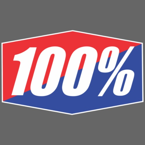 100% Logo Design - Men's Premium T-Shirt
