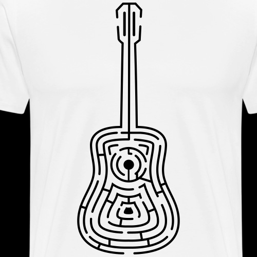 Amazing Guitar - Customizable Color Design - Men's Premium T-Shirt