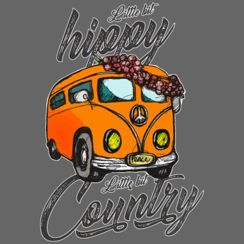 Little Bit Hippie Little Bit Country - Men's Premium T-Shirt