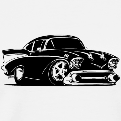 Classic American Hot Rod Car - Men's Premium T-Shirt