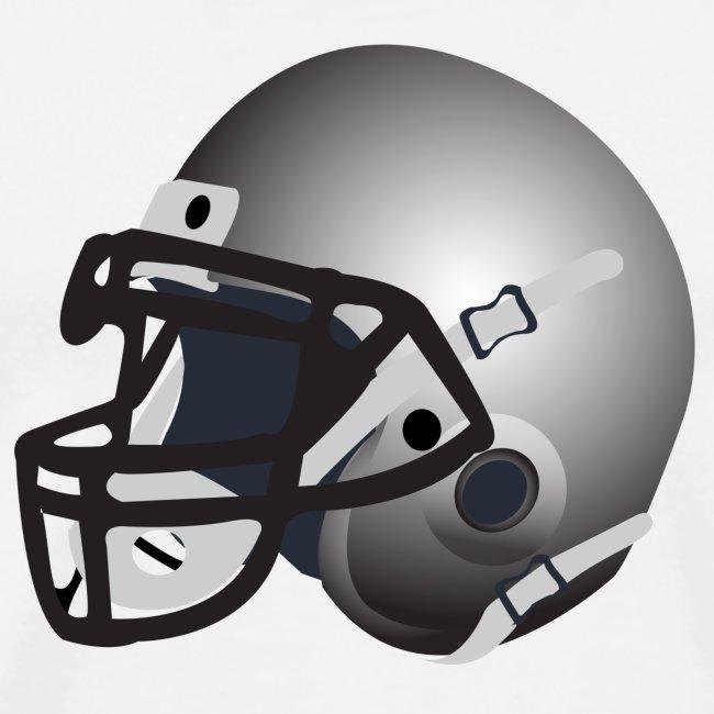 silver football helmet