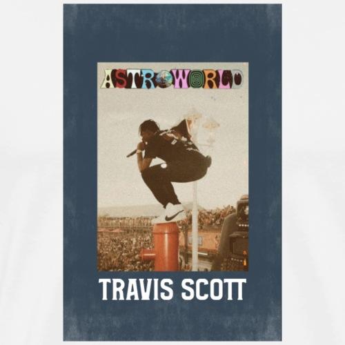 travi scot astroword - Men's Premium T-Shirt