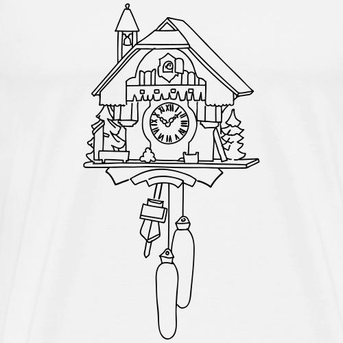 Kuckuck clock from the Black Forest - Men's Premium T-Shirt