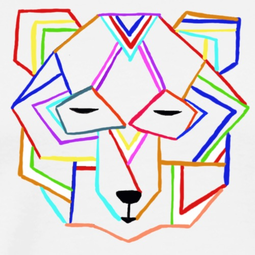 art deco bear face - Men's Premium T-Shirt