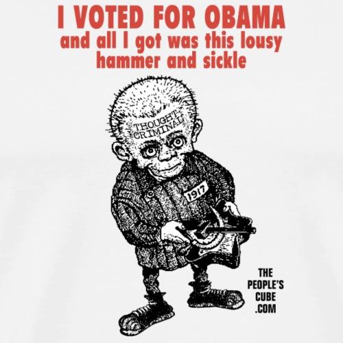 I Voted for Obama - GULAG - Men's Premium T-Shirt