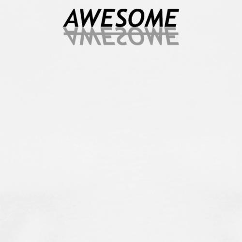 black grey awesome - Men's Premium T-Shirt