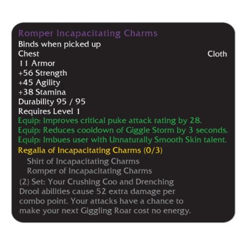 Warcraft Baby: Romper of Incapacitating Charms - Men's Premium T-Shirt