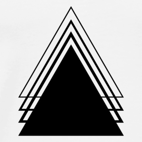 Triangle Geometry Design Minimalist - Men's Premium T-Shirt