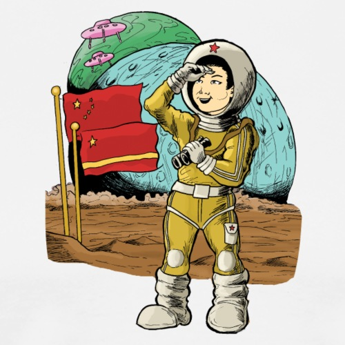 Chinese Space Boy - Men's Premium T-Shirt