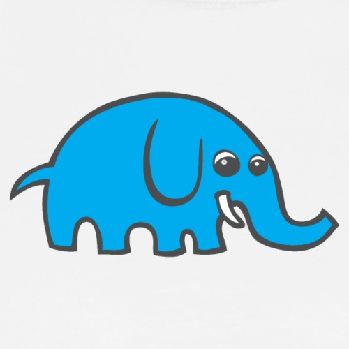 Blue Cartoon Elephant - Men's Premium T-Shirt