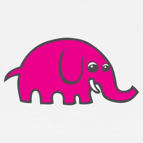Pink Cartoon Elephant - Men's Premium T-Shirt