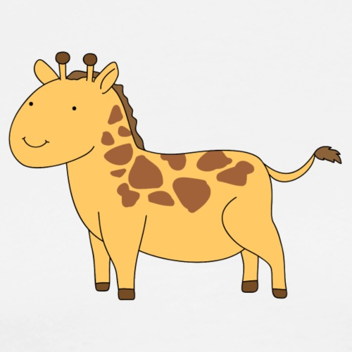 A tiny giraffe - Men's Premium T-Shirt