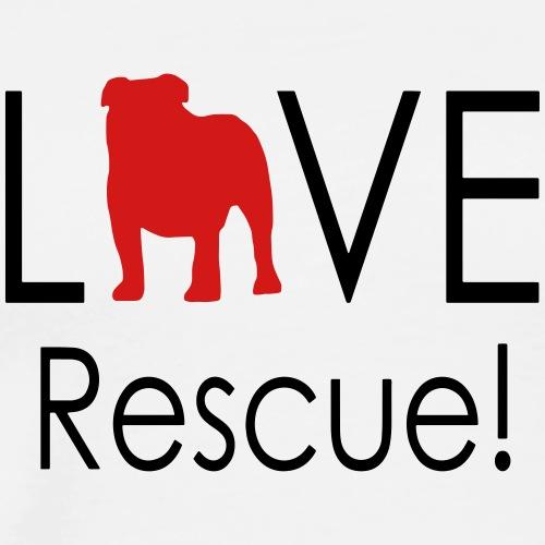 Love Rescue English Bulldog - Men's Premium T-Shirt