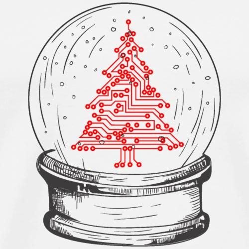 Crystal snow globe   Geeky christmas tree - Men's Premium T-Shirt