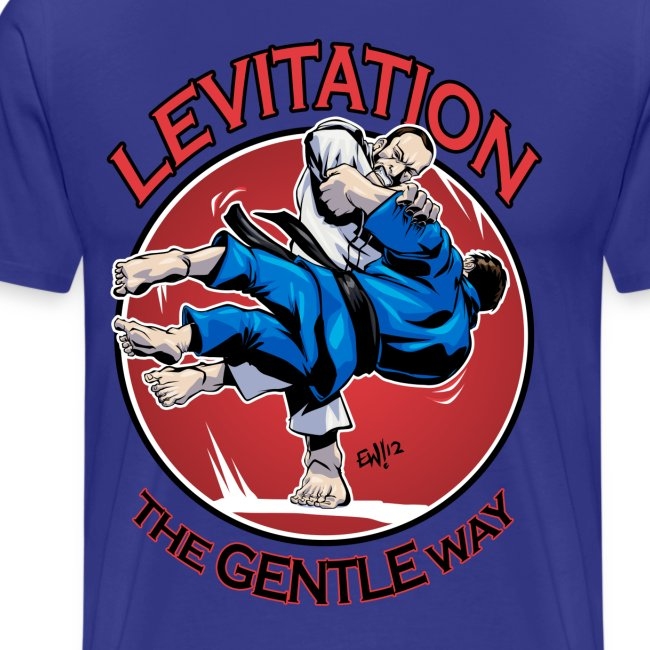 Judo Levitation for white shirt